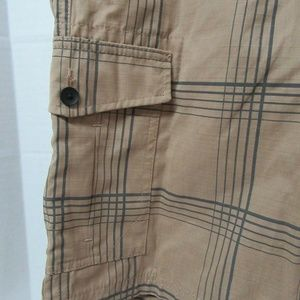 Boys Tony Hawk Shorts Sz 18 Tan Plaid New